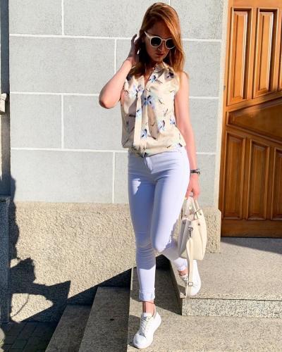 Белые джинсы - идеальная летняя вещь!